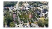 Powder Springs downtown park screenshot from City of Powder Springs website