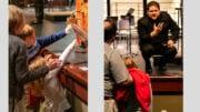 Photos of children at a Sensory Friendly Concert