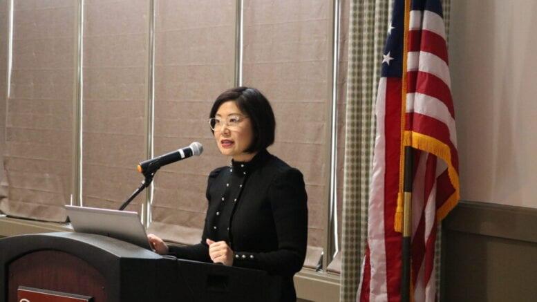 Janet Memark speaks at Healthy Start meeting