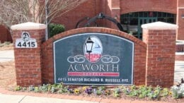 Acworth City Hall in article about Cobb County supply warehouse