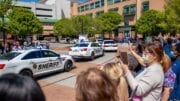 Sheriff's Office cars in parade at WellStar Kennestone