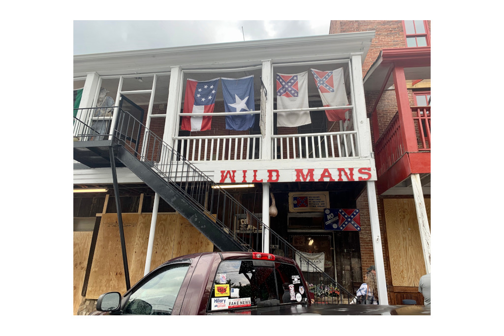 The front of Wild Man's civil war surplus store in downtown Kennesaw.