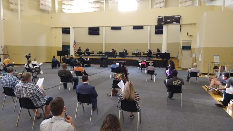 residents at town hall for Smyrna non-discrimination ordinance